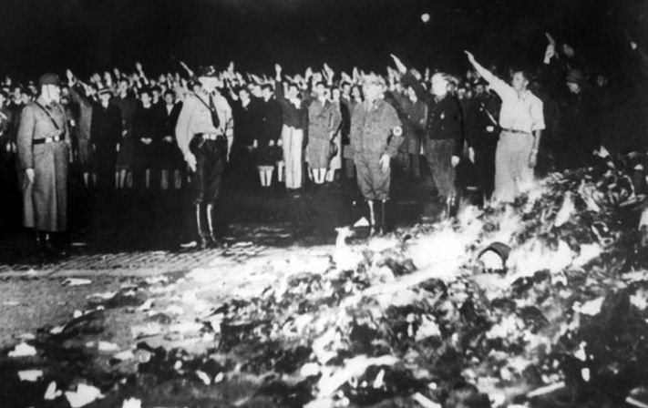 History - Burning Books in Nazi Germany