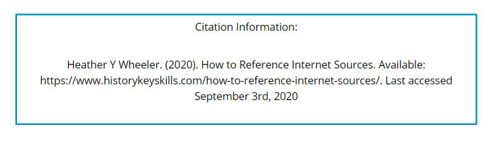 How to Reference Internet Sources - Harvard Reference Style